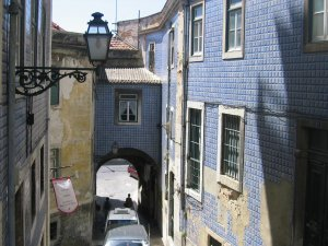 Narrow streets of Alfama, Lisbon