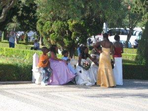 Wedding outside Mosteiros