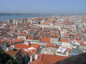 Lisbon from the Castelo
