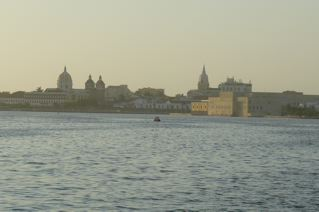 Beautiful Cartagena landmarks, including the famous cathedral