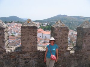 Liora by castle walls