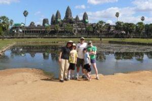 My family at Angkor Wat