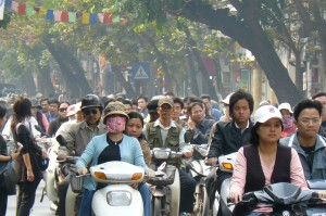 Motorcycles in Hanoi